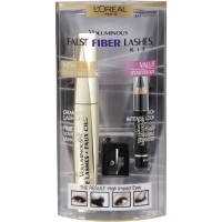 L'OREAL Voluminous False Fiber Lashes Kit Zestaw tusz i kredka do oczu